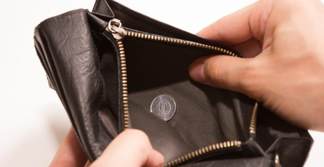 財布にお金がない