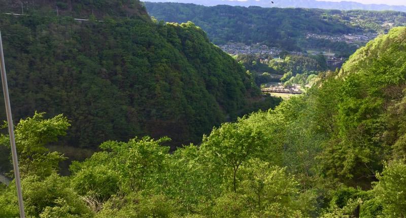 浦山ダムからの風景