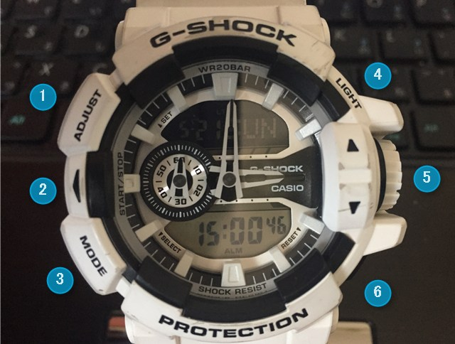 G-SHOCK PROTECTIONボタン名