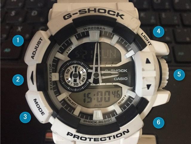 G-SHOCK PROTECTIONボタン名