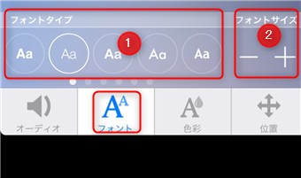 フォントサイズと位置を変更