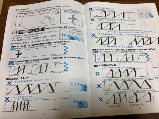 カリグラフィー練習帳_運筆