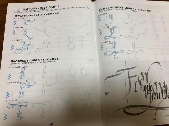 カリグラフィー練習帳_縁装飾
