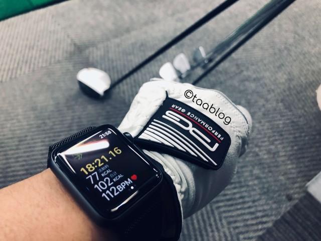 applewatchゴルフグローブ装着
